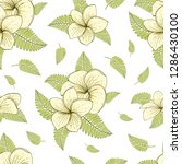 seamless pattern with plumeria. ... | Shutterstock .eps vector #1286430100