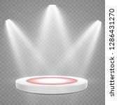 podium with red carpet. stage ... | Shutterstock .eps vector #1286431270