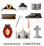 set of items used at the...   Shutterstock .eps vector #1286435266