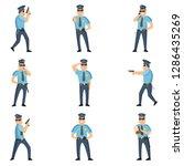 recruitment of policemen doing... | Shutterstock .eps vector #1286435269