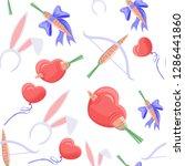 love day pattern  valentines... | Shutterstock .eps vector #1286441860