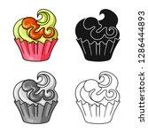 vector design of confectionery... | Shutterstock .eps vector #1286444893