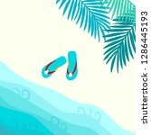 summer card design with  flip... | Shutterstock .eps vector #1286445193