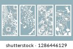 set template for laser cutting... | Shutterstock .eps vector #1286446129