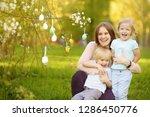charming little children with... | Shutterstock . vector #1286450776