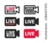 vector set of tech online video ... | Shutterstock .eps vector #1286457553