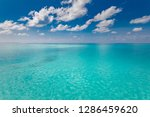 sea and sky. perfect blue sea... | Shutterstock . vector #1286459620