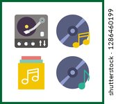 4 disc icon. vector... | Shutterstock .eps vector #1286460199