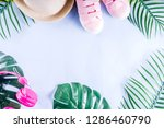 colorful summer vacation and... | Shutterstock . vector #1286460790