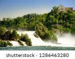 rhine falls in switzerland.... | Shutterstock . vector #1286463280