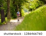 sportive middle age man cycling ... | Shutterstock . vector #1286466760
