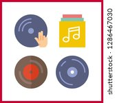 4 disc icon. vector... | Shutterstock .eps vector #1286467030