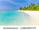 tranquil beach scenery. exotic... | Shutterstock . vector #1286483179
