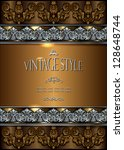 luxury vintage frame with place ... | Shutterstock .eps vector #128648744