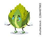 crying cartoon green roman... | Shutterstock .eps vector #1286487883