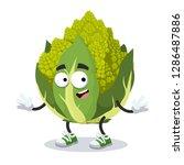 cartoon happy green roman... | Shutterstock .eps vector #1286487886