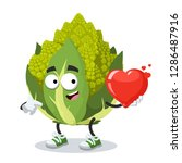 cartoon green roman broccoli... | Shutterstock .eps vector #1286487916