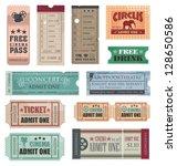 vintage tickets | Shutterstock .eps vector #128650586