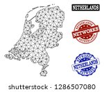 black mesh vector map of... | Shutterstock .eps vector #1286507080
