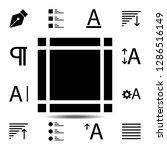 margin  text icon. simple glyph ...