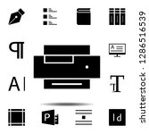 printer  text icon. simple...