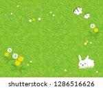 spring square illustration... | Shutterstock .eps vector #1286516626