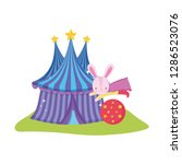 cute circus rabbit with layer... | Shutterstock .eps vector #1286523076