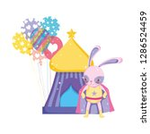 cute circus rabbit with layer... | Shutterstock .eps vector #1286524459