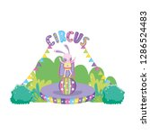 cute circus rabbit with layer... | Shutterstock .eps vector #1286524483