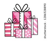 gift boxes icon | Shutterstock .eps vector #1286528890