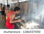 dec 23 2018 a person preparing...   Shutterstock . vector #1286537050