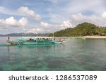 dec 23 2018 bangka boat moving... | Shutterstock . vector #1286537089