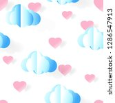 cute seamless pattern... | Shutterstock .eps vector #1286547913