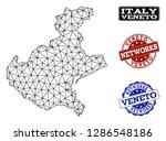 black mesh vector map of veneto ... | Shutterstock .eps vector #1286548186