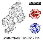 black mesh vector map of... | Shutterstock .eps vector #1286549446