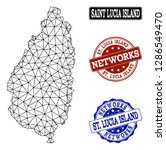 black mesh vector map of saint... | Shutterstock .eps vector #1286549470