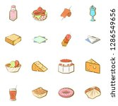 american food  cheeses  drinks  ... | Shutterstock .eps vector #1286549656