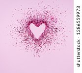Glitter Heart Dissolving Into...