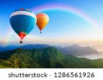 colorful hot air balloons...   Shutterstock . vector #1286561926