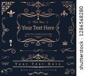 decorative calligraphic...   Shutterstock .eps vector #1286568280