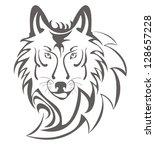 Wolf symbol - stock vector