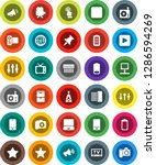 white solid icon set  camera... | Shutterstock .eps vector #1286594269