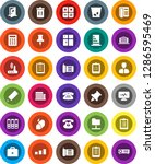 white solid icon set  trash bin ... | Shutterstock .eps vector #1286595469
