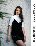portrait of a young  elegant...   Shutterstock . vector #1286596330