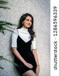 portrait of a young  elegant...   Shutterstock . vector #1286596339