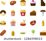 color flat icon set   sausage... | Shutterstock .eps vector #1286598013