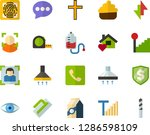 color flat icon set   church... | Shutterstock .eps vector #1286598109
