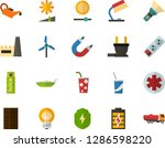 color flat icon set   table... | Shutterstock .eps vector #1286598220