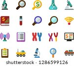 color flat icon set  ... | Shutterstock .eps vector #1286599126