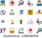 color flat icon set   indicate... | Shutterstock .eps vector #1286600956